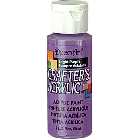 bright purple decoart 174 crafter s acrylic paint basic bright purple craft paint