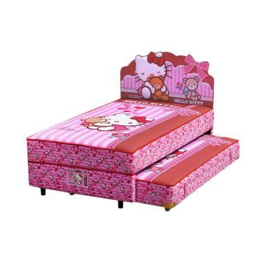 Kasur Ranjang Bigland 2 In 1 Sorong Hello Lisensi Best Friend jual fcenter bigland 2in1 sorong hello best friend set springbed set khusus