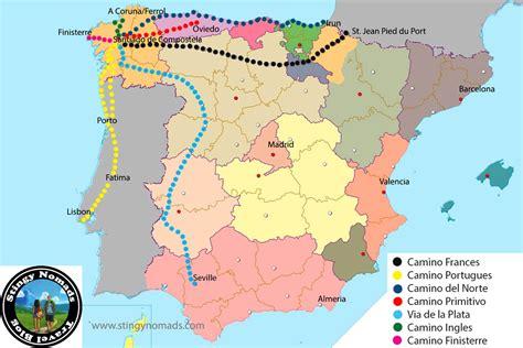 el camino de santiago map many routes of the camino de santiago choose the right