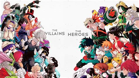My Hero Academia Villains vs Heroes Wallpaper #35306