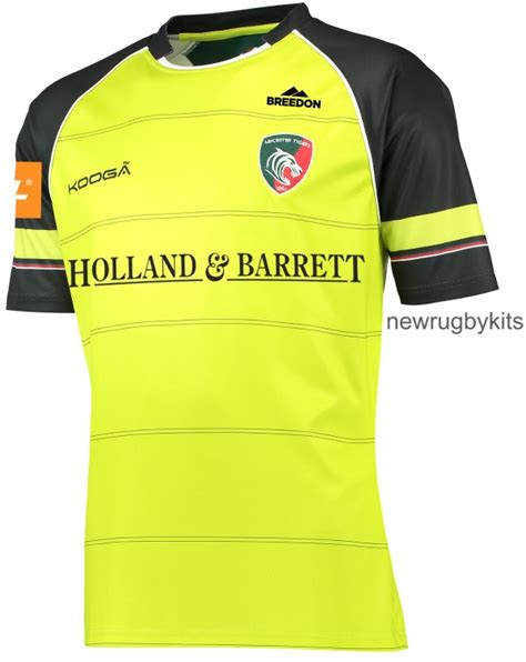 Leicester Home Leicester Away new leicester tigers rugby kit 2016 2017 kooga tigers shirts 16 17 home away new rugby kits