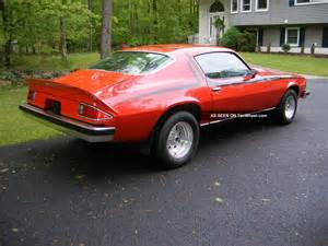 1974 chevy camaro lt with black stripes and