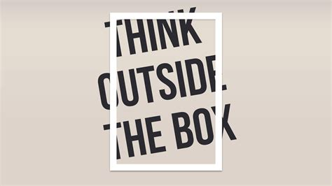 Think Out The Box think outside the box hd typography 4k wallpapers