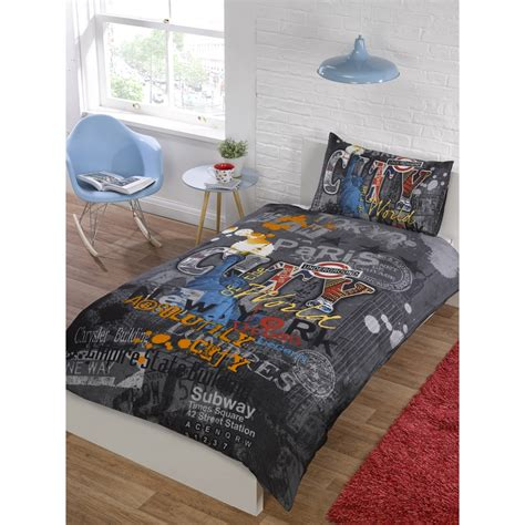 graffiti comforter sets city graffiti printed duvet set
