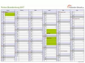 Kalender 2018 Zum Ausdrucken Mit Ferien Brandenburg Ferien Brandenburg 2017 Ferienkalender Zum Ausdrucken