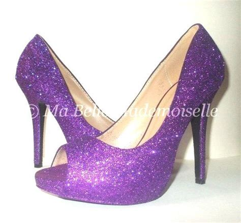 Glitter Bridal Shoes by Purple Glitter Shoes Glitter Shoes Glitter Wedding Shoes