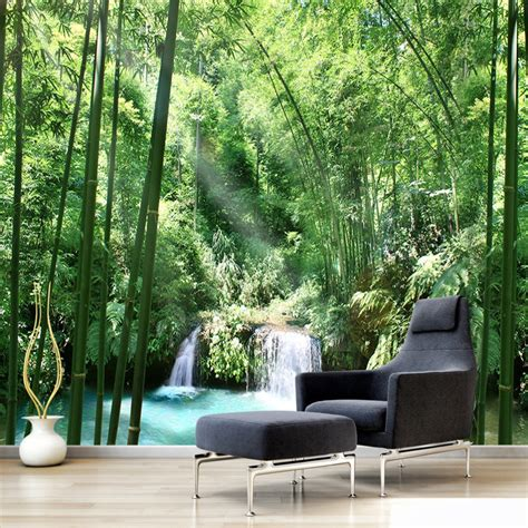 bamboo forest wall mural custom 3d wall murals wallpaper bamboo forest landscape design mural painting living