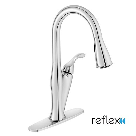 Moen Benton Kitchen Faucet Moen Benton 1 Handle Kitchen Faucet With Matching Pulldown Wand Chrome Finish The Home Depot