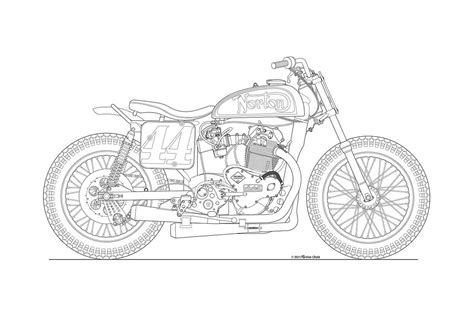 doodle line drawing photos some classic motorcycle line drawings