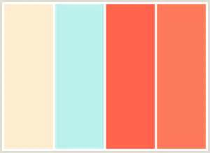 colors that go with aqua colorcombo279 with hex colors fdedd0 bcf1ed ff634d fd795b