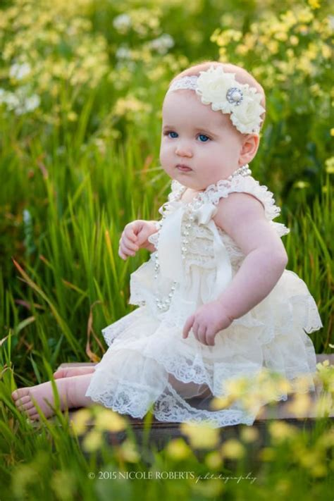 Vintage Baby 1 ivory vintage lace dress photo shoot baby lace