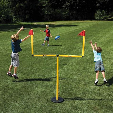 backyard field goal posts the winning field goal backyard goal post hammacher