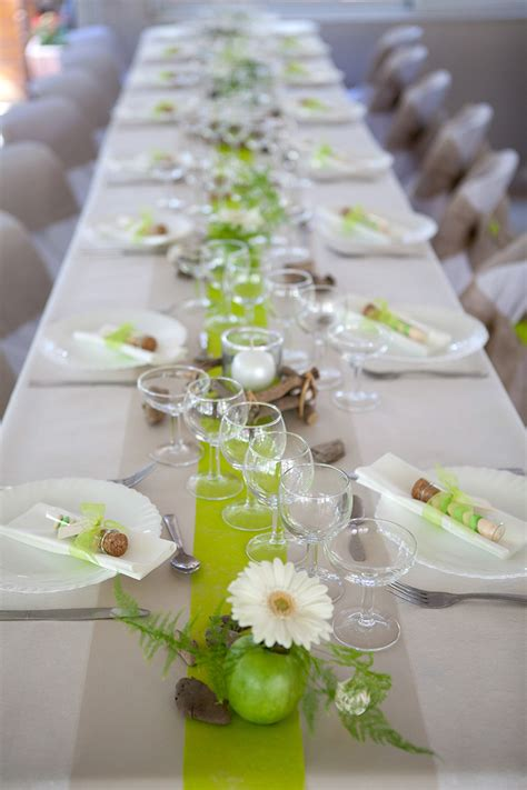 photo table mariage 10 id 233 es de chemin de table mariage pour une table orginale