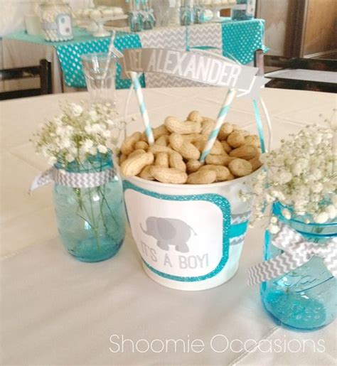 elephants and balloons baby shower ideas
