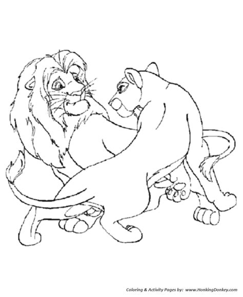 male lion coloring pages wild animal coloring pages male and female lions
