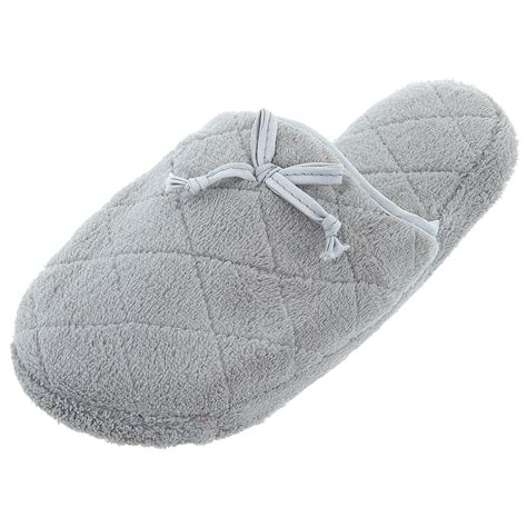 quilted slippers gray quilted fuzzy slippers for