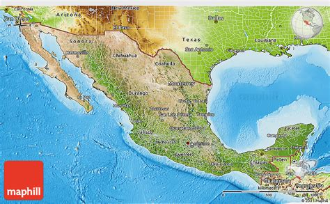 physical map mexico satellite 3d map of mexico physical outside