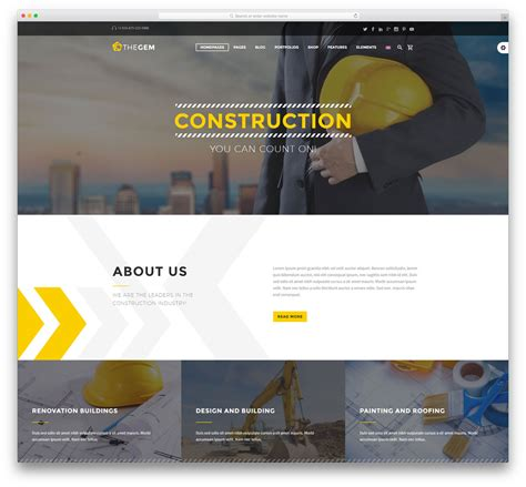 templates for construction website 30 best construction company wordpress themes 2018 colorlib