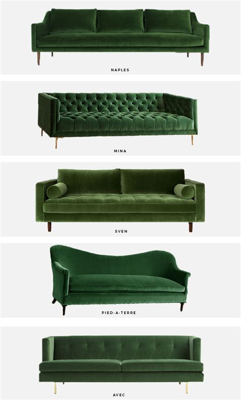 modern green velvet sofa trend alert the green velvet sofa mint modern home