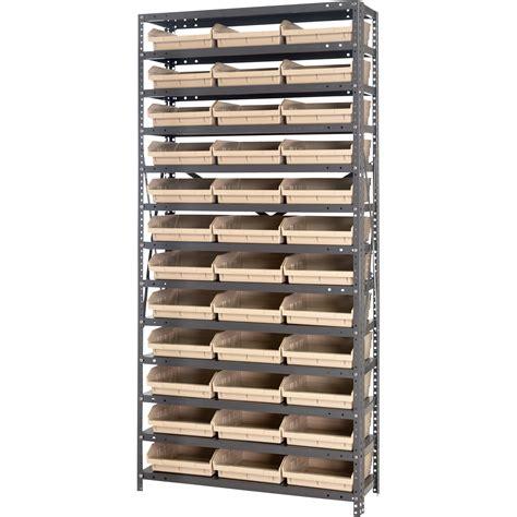 Single Metal Shelf by Quantum Storage Single Side Metal Shelving Unit With 36