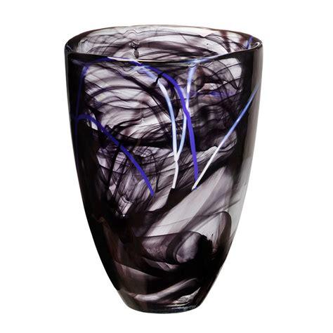 Kosta Boda Contrast Vase by Contrast Vase Black Ehrner Kosta Boda