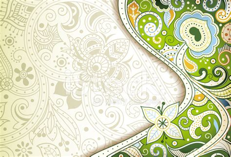 Abstract Green Floral Background Stock Vector   FreeImages.com