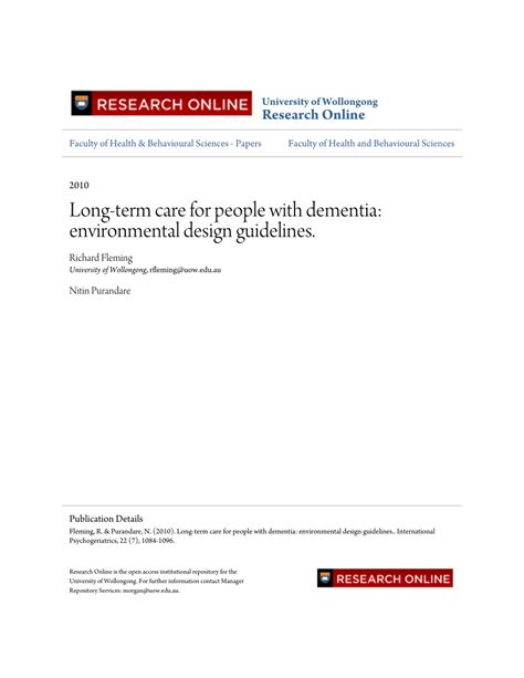 environmental design criteria long term care for people with dementia pdf download