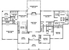 5 Bedroom House Plans 1 Story 653941 One Story 3 Bedroom 3 5 Bath Louisiana
