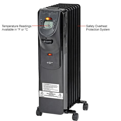 comfort zone oil filled heaters heaters portable electric comfort zone 174 digital