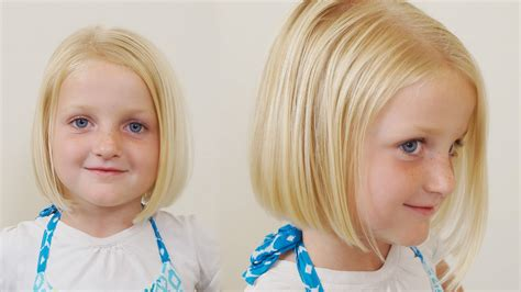 bob hair cuts for 4 yr olds how to cut little girls hair basic bob haircut short