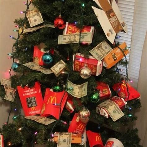 ghetto christmas tree mcdonalds silly rabbit pinterest