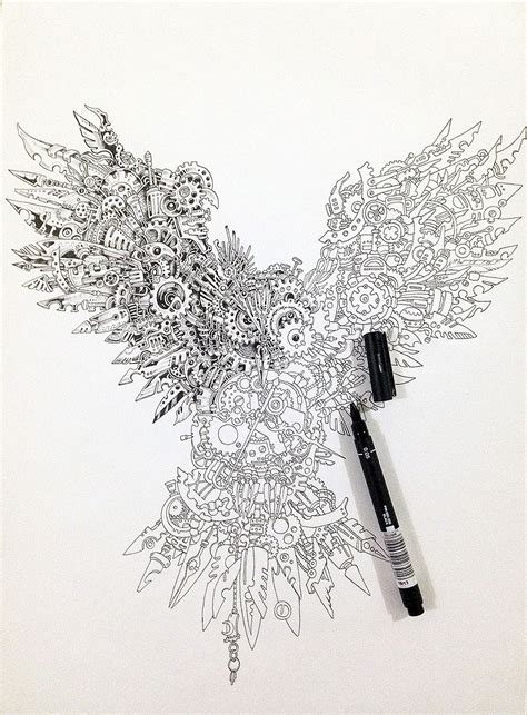 doodle drawing pens impressively detailed pen doodles by kerby rosanes bored