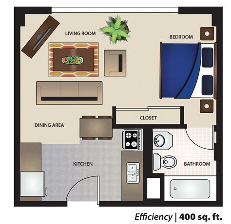 efficiency apartment layout floor design studio apartment s furniture layout view