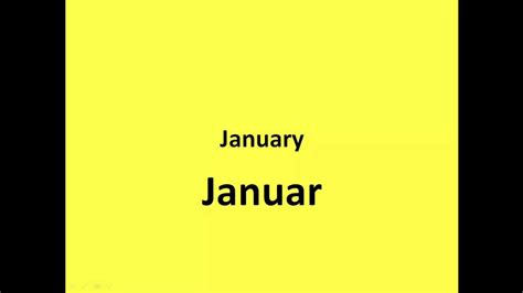 In German learn german months of the year