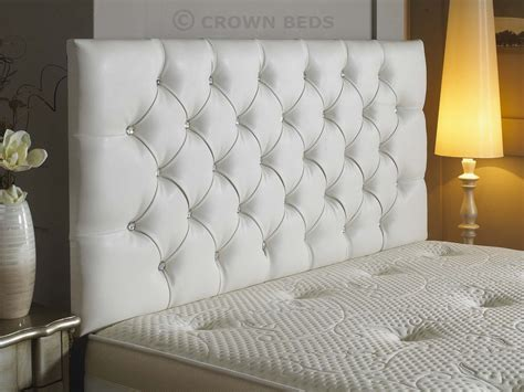 white double bed headboard new diamante faux leather headboard in 3ft 4ft 4ft6 5ft