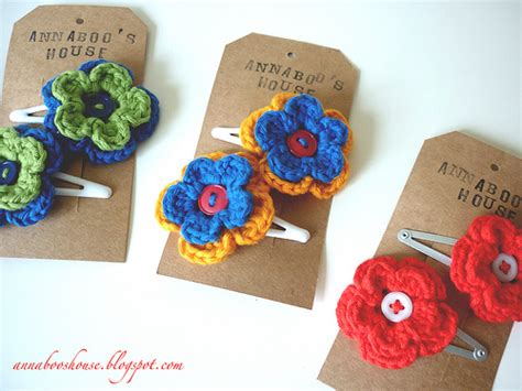 free patterns and on flower hair annaboo s house uses for crochet flowers number 2