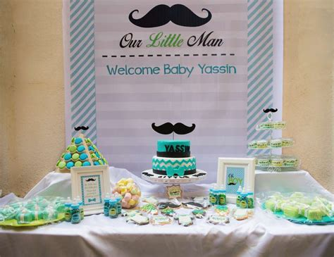 Mustache Themed Baby Shower Supplies by Mustaches Baby Shower Quot Yassin S Baby Shower