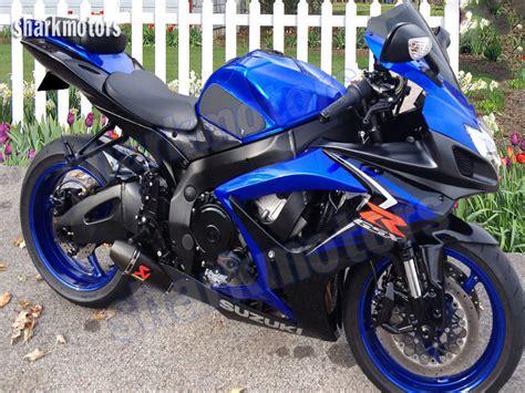 2007 Suzuki Gsxr 750 Fairings Fairing Black Blue Injection For 2006 2007 Suzuki Gsxr Gsx