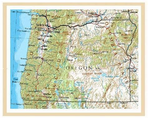 map of oregon usa usa oregon