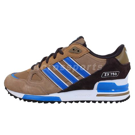 adidas originals zx 750 brown blue black 2014 mens retro running shoes sneakers ebay