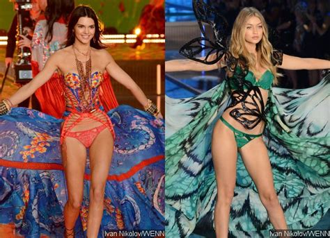 photos gigi hadid victorias secret pink kendall jenner kendall jenner gigi hadid and more stunning at victoria s