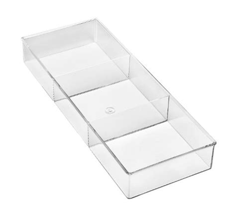 3 drawer organizer small whitmor 6789 3067 3 section clear drawer organizer small