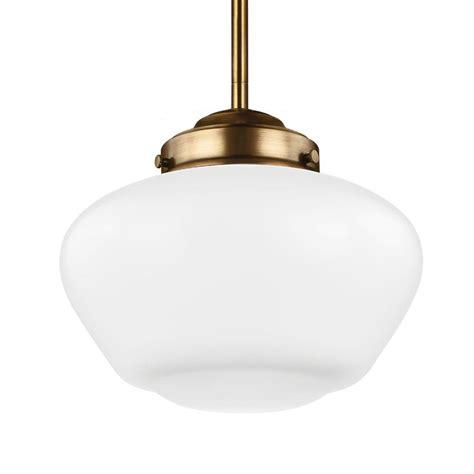 aged brass pendant light feiss alcott 1 light aged brass pendant p1383agb the