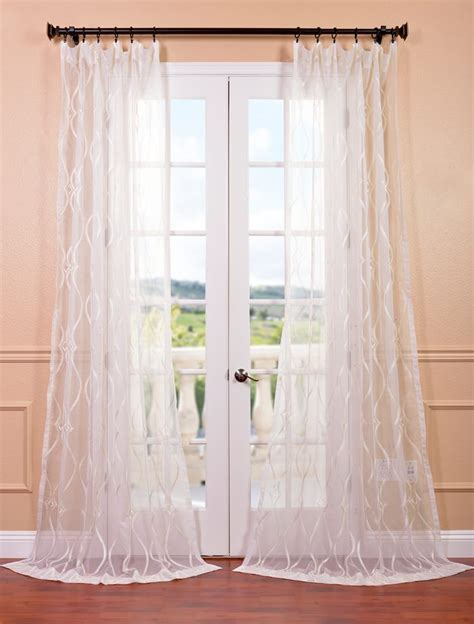 Contessa creme embroidered sheer curtain dining room pinterest