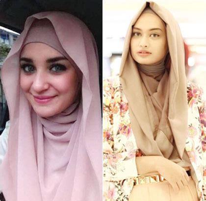 tutorial jilbab syar i instan foto gaya aktris hingga selebgram hijab pakai tren hoodie