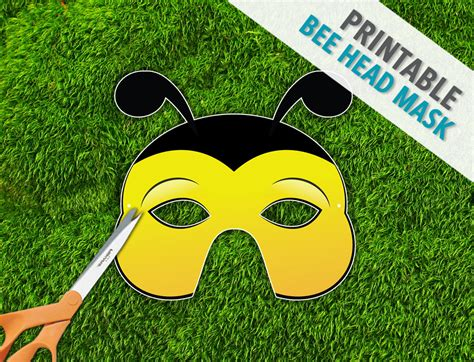 bee head mask printable mask photo prop bug mask by