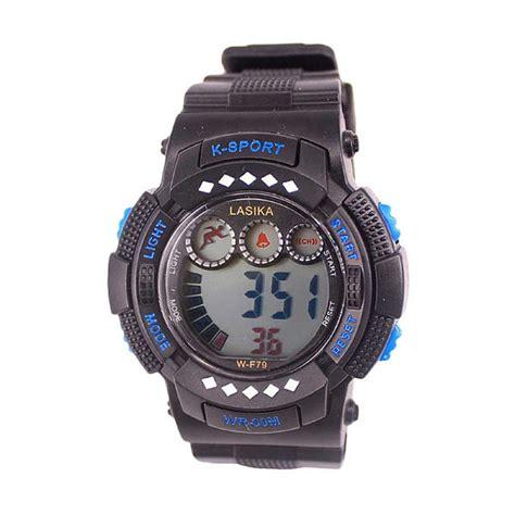 Jam Tangan Lasika Sport Black jual lasika w f 79 sport digital lasika jam tangan unisex