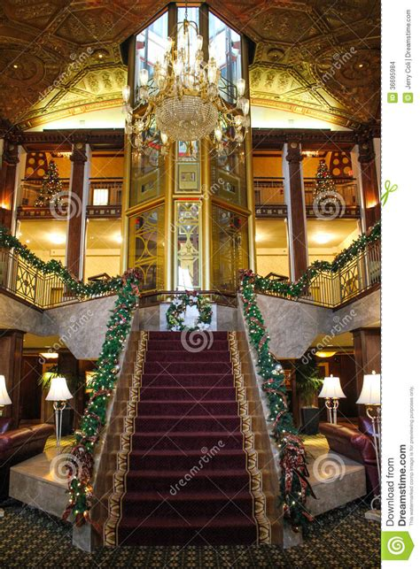 hotel lobby christmas decorations time at the biltmore hotel providence ri editorial stock image image 36695984