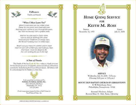 Memorial Brochure Templates Free