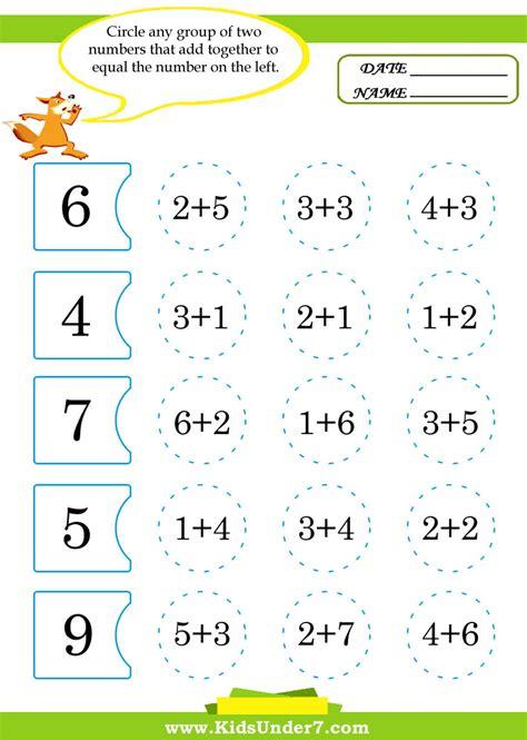 for kindergarten amazing kindergarten worksheets math printable for